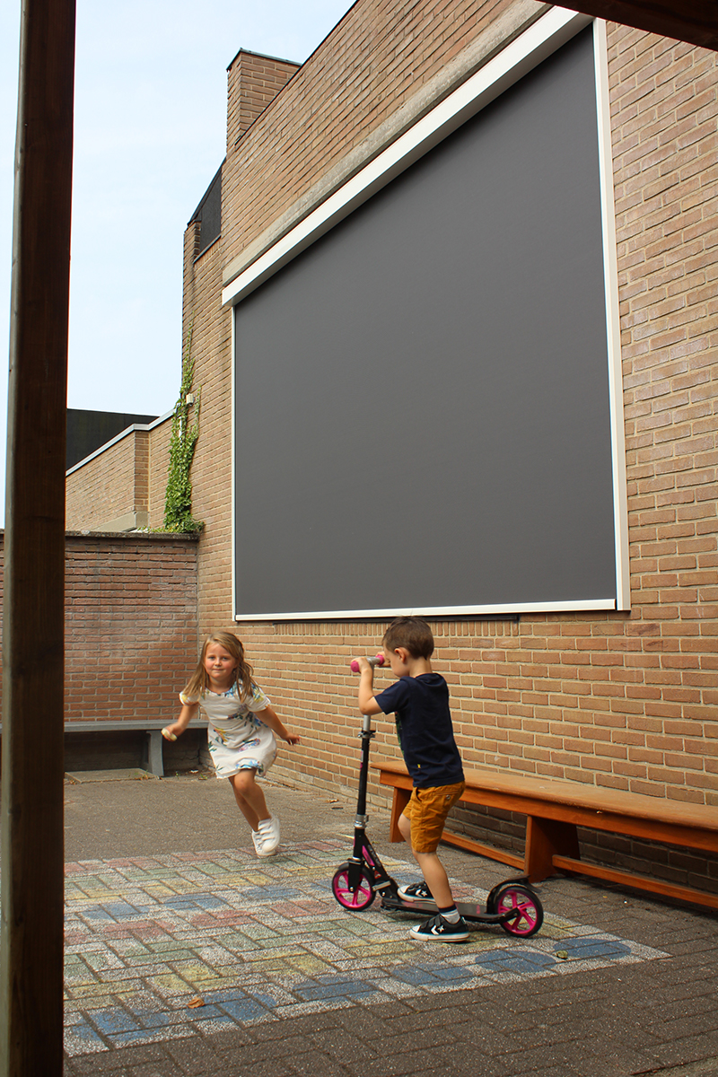Building Shutter Systems Screens Buitenzonwering School